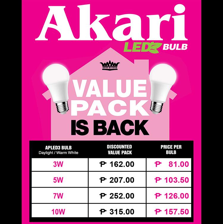 The Akari Led Bulb Value Pack Is Back Lighting